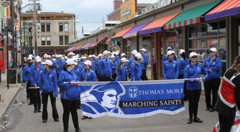 Saints March in 98th Findlay Market Opening Day Parade