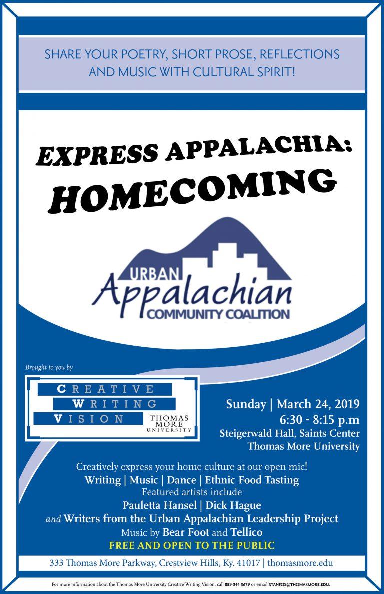 Express Appalachia Homecoming flyer