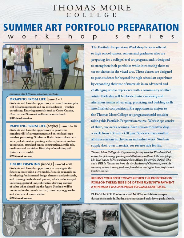 TMC to Launch Summer Art Portfolio Program Series for High School Students and Recent Graduates