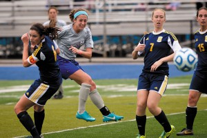 Courtney Clark in action on the soccer field.