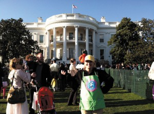 Maria Heim volunteering at the White House Easter Egg Roll.