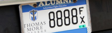 Re-designed license plate available for alumni and friends in Kentucky