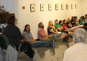 Kate shares her insights on the art she creates during the open gallery talk in September.