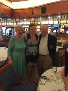 Nancy (Black) Kuchle '56, her brother David Black '58, and his granddaughter current TMC sophomore Taylor Budde.