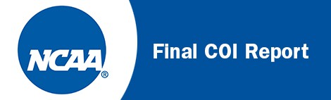 NCAA Issues Final COI Report