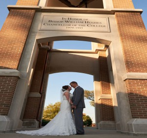 Lindsey Burns '11 and Adam Saunders on their wedding day.