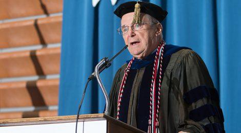 Academic Convocation keynote speaker, Dr. Raymond Hebert