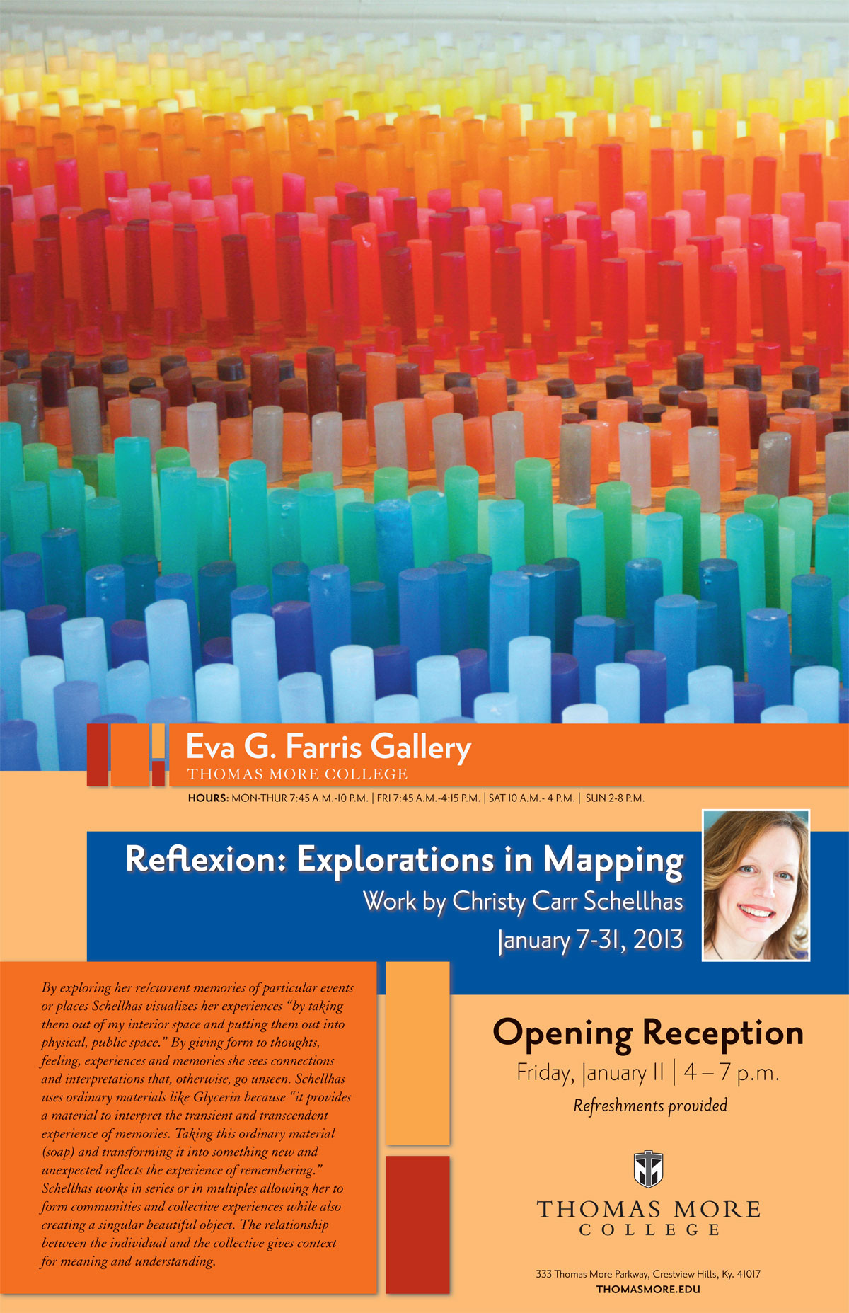 Reflexion: Explorations in Mapping - Work by Christy Carr Schellhas - January 7-31, 2013