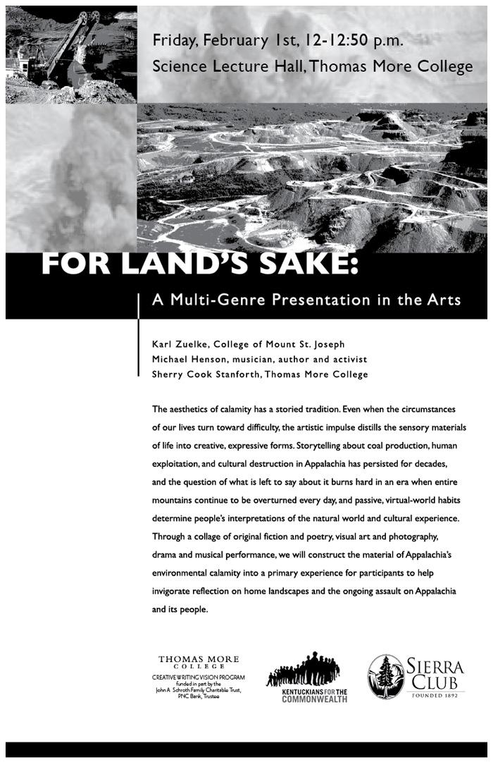 For Land's Sake: A Multi-Genre Presentation in the Arts
