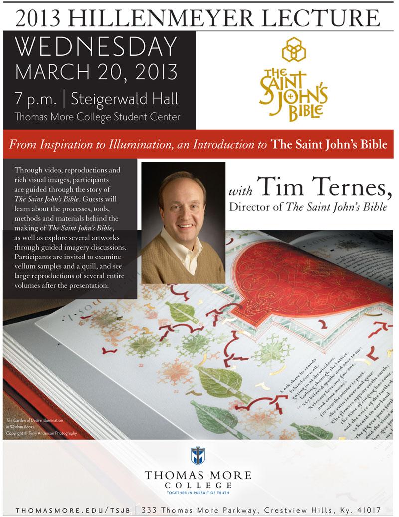 2013 Hillenmeyer Lecture - Wednesday, March 20, 2013 - Steigerwald Hall