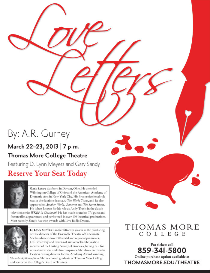 TMC To Present Love Letters Starring Gary Sandy And D. Lynn Meyers March 22-23