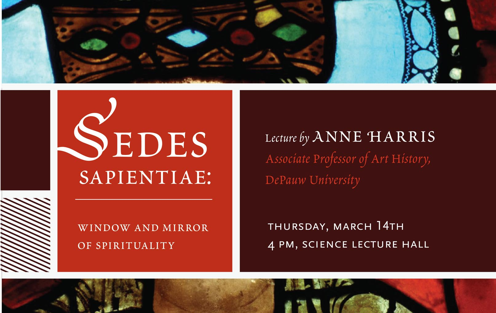 Sedes Sapientiae: Window and Mirror of Spirituality - Thursday, March 14 - 4:00pm