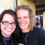 Dr. Julie Luebbers (right) and Danielle Weaver '11.