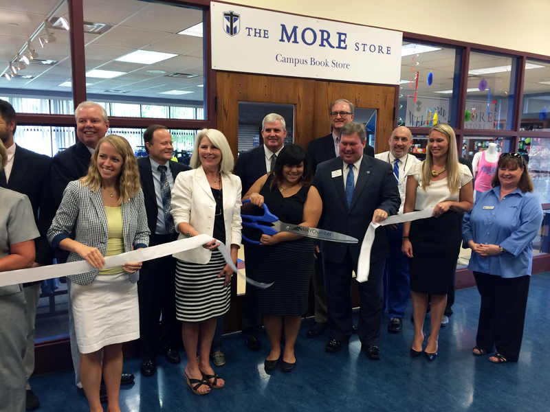 Representatives from Thomas More College & the Northern Kentucky Chamber of Commerce took part in the ribbon cutting