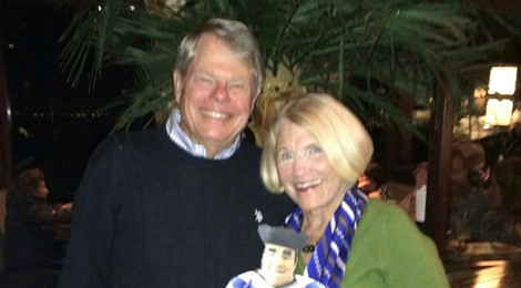 Flat Tommy visits  Joe '62 and Cathy Fisher in SFO!