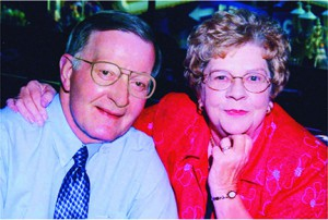 Ken with wife Phyllis on their 50th wedding anniversary.