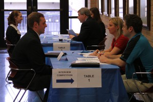 An Interview Competition was incorporated into the event with prizes for the top interviewing students.