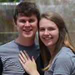 Kelsey Spark '14 and Dagan Kaht '14 announce their engagement.