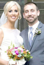 Kelsey William '12 and husband Brian Gognant.