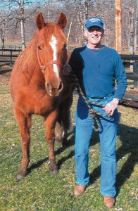 Retired teacher and administrator John, as stable boy on his farm in Highland County, Ohio.
