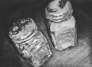 """Shakers (2015) 6""""x8"""" etching with aquatint"""