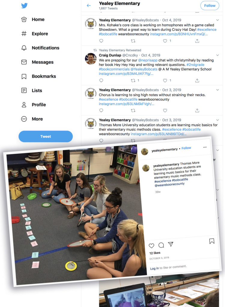 Social Media post by Yealey Elementary