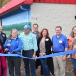 Ribbon cutting at the new STEM Outreach Center at the TMU Biology Field Station